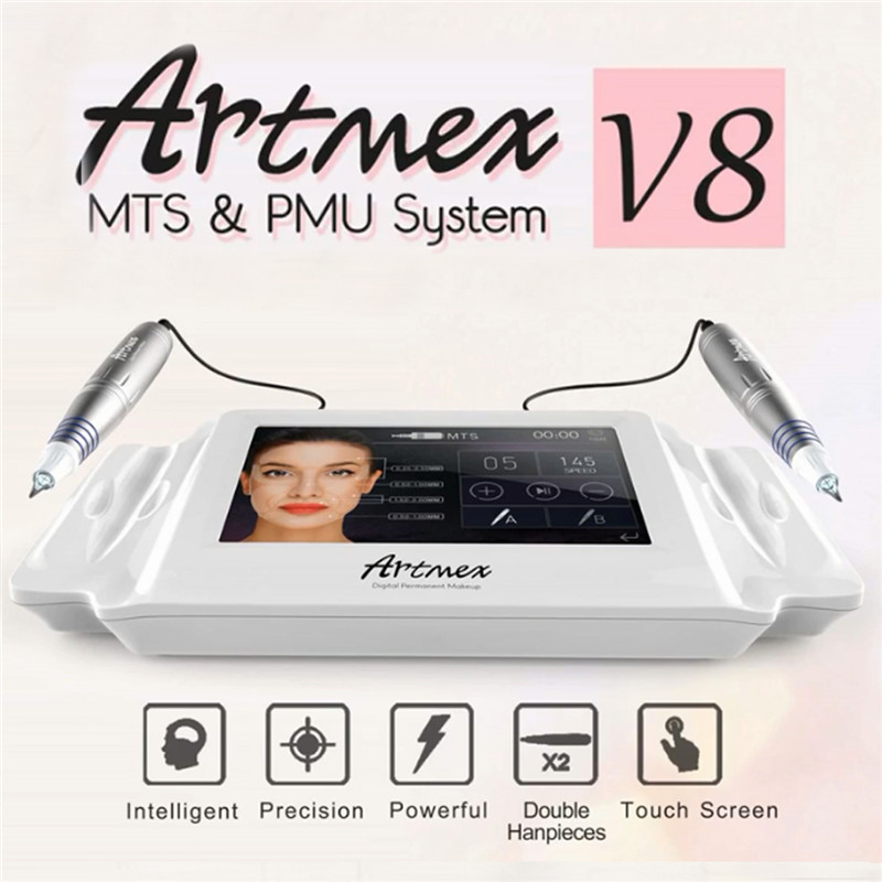 Artmex V8 Tatuagem Maquiagem Permanente Máquina Digital Elétrica Eye Brow Lip Rotary Caneta MTS PMU Sistema de Máquina de Maquiagem 100- 240 v AC