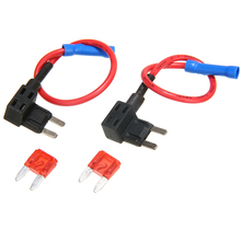 Mayitr 2Pcs 12/24V Fuse Holder Add A Circuit Tap Mini Blade ATO ATC with 10A Fuses
