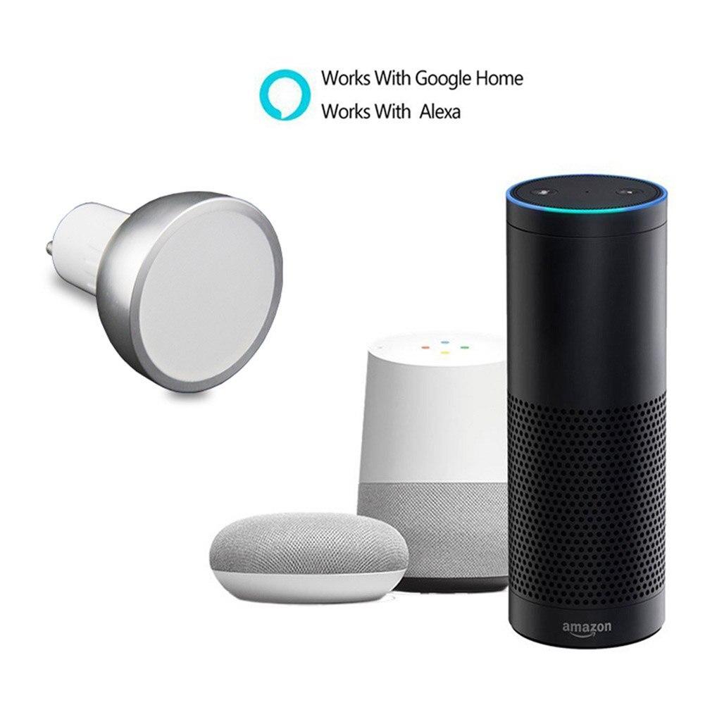 10/20 шт Светодиодная WiFi умная лампа GU10 лампочка Bombillas RGBW 5 Вт затемняемый лампада свет приложения дистанционное управление работа с Alexa/Google/IFTTT - 3