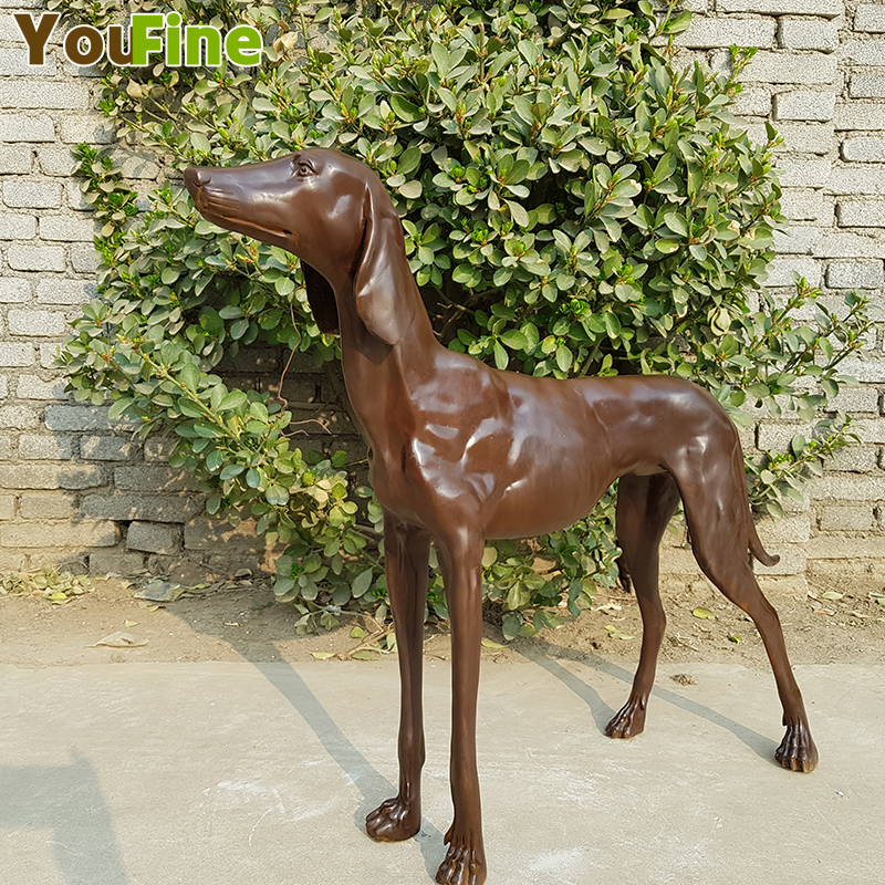 YOUFINEShop Selling Bronze Pure Copper Dog Sculptures With Abrasive Tools For Mass Production Of Indoor Garden Ornaments