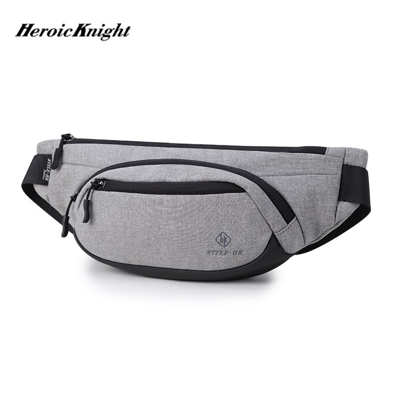 Heroic Knight Men Waist Bag Waterproof Pack Travel Phone Belt Bag Pouch For Men Casual Shoulder Chest Bag Fanny Pack Hip Pack