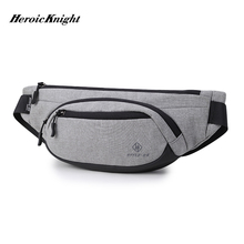 Heroic Knight Men Waist Bag Waterproof Pack Travel Phone Belt Pouch for Casual Shoulder Chest bag Fanny pack Hip