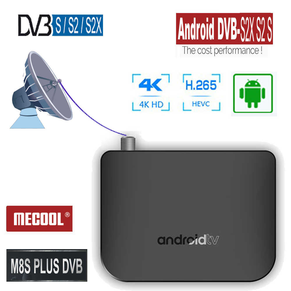 H.265 4 K Quad Core Android caja de TV Digital DVB-S2X DVB-S2 Receptor de satélite sintonizador de TV Wifi reproductor multimedia Iptv set Top Box