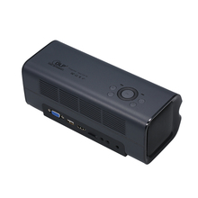 Projector Full HD DLP Portable Mini Projector with 30000 Lamp Life Side Projector for Home Theater and Entertainment Speech