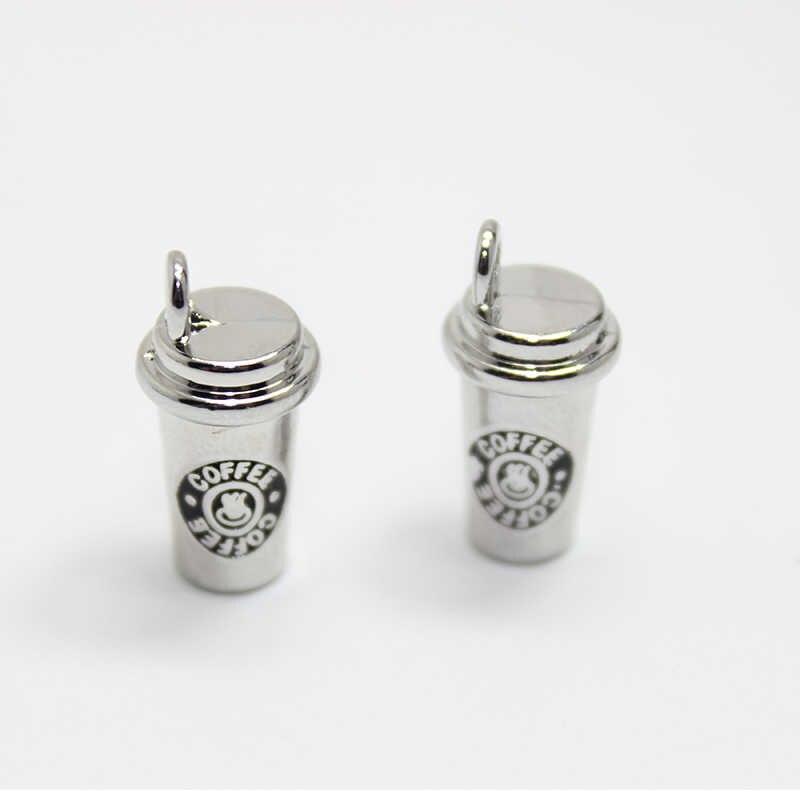 8 pcs-10x16 มม.ถ้วยกาแฟ charms/3D ถ้วยกาแฟ Charm จี้สำหรับ DIY สร้อยข้อมือสร้อยคอ diy เครื่องประดับสำหรับกาแฟ