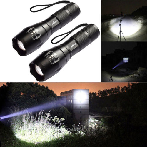 50000Lm Lumens LED Flashlight Hand Tourch Zoomable XM-L T6 Hiking Camping Light Without Battery