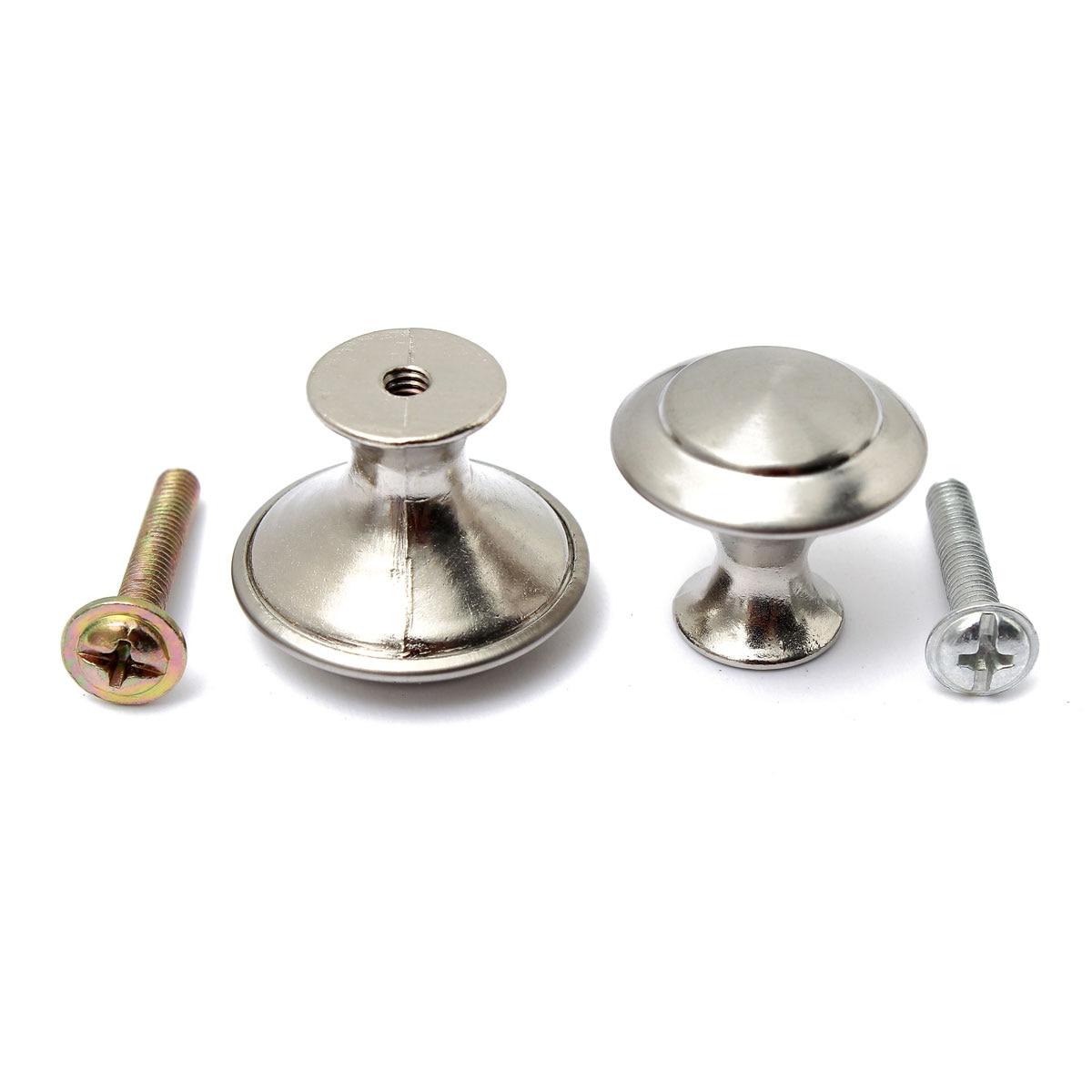 Stainless Steel Satin Kitchen Cabinet Pull Knob 24 28mm