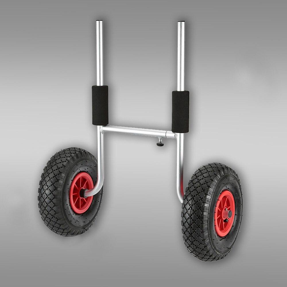 50 kg Capacité De Chargement Amovible Kayak Chariot d'économie d'énergie Deux-roues Porte-Kayak Panier Chariot pour Sports de Plein Air