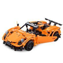 цена на Cada Double E 421pcs Technic Remote Control Car 2.4G Building RC Blocks Simulation Sports Car Vehicle Bricks Kids Assemble Toy