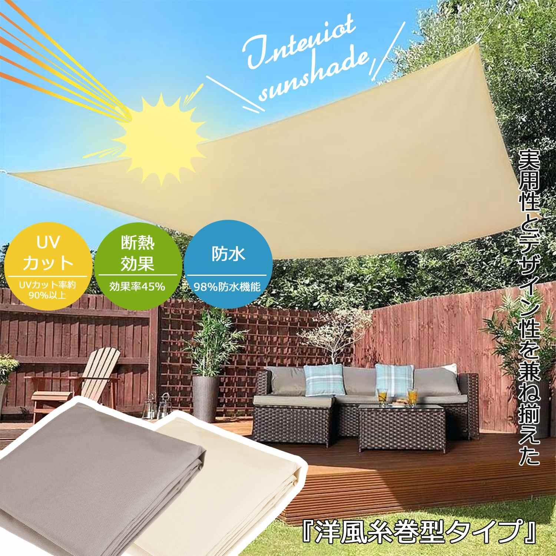 2020 Waterproof 300D Sand Square Rectangle Shade Sail Garden Terrace Canopy Swimming Sun Shade Camping Hiking Yard Sail Awning(China)