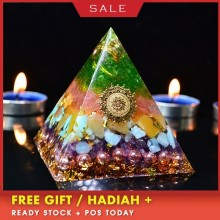 Orgonite Ariel Aura Crystal Pyramid Anahata Chakra Transparent Pyramid Jewelry Resin Decorative Craft Jewelry aura reiki orgonite pyramid aochen energy tower pyramid crystal decoration love gathering home resin decorative craft jewelry
