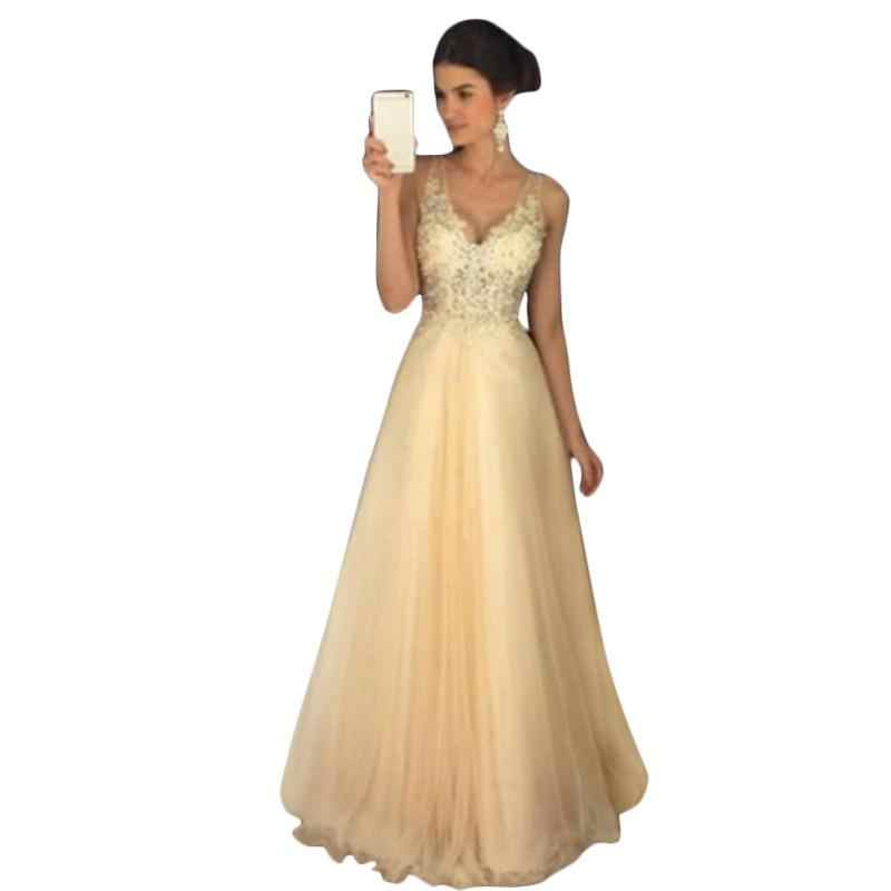 ... New Sequin Dress Ball Gown Prom Bride Dress Women Lace Muslim Gold  Sequins Sleeveless Dress Tulle ... 92efdbe0a177
