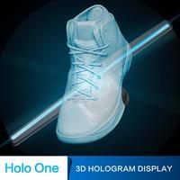 Голограмма проектор Голографический Дисплей вентилятор Уникальный Праздник Рекламы Магазина Украшение Рекламы Свет 42 см 3D