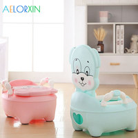 Cartoon Cute Puppy Baby Potty Toilet Bowl Training Pan Toilet Seat Children's Pot Kids Bedpan Portable Comfortable