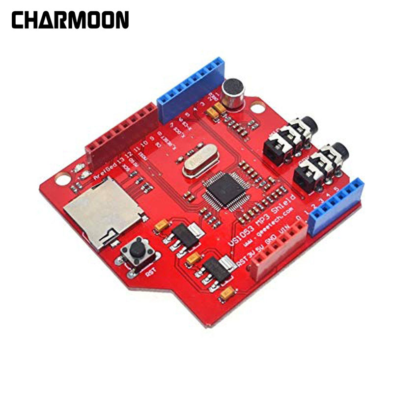 Vs1053 Vs1053b Stereo Audio Mp3 Player Shield Record Decode Board With Sd/tf Card Slot For Arduino R3 One New Meticulous Dyeing Processes