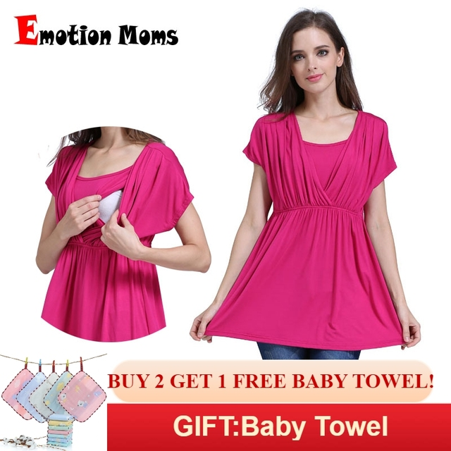 e7463c76daf Emotion Moms Summer Breastfeeding tops Maternity Clothes for pregnant women Breastfeeding  Shirts Pregnancy Nursing Top