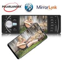 New 4.1 inch Car radio player MP5 bluetooth Support Rear view Camera 12V Car Audio video FM/USB/TF/MMC 1 Din DVR/AUX input