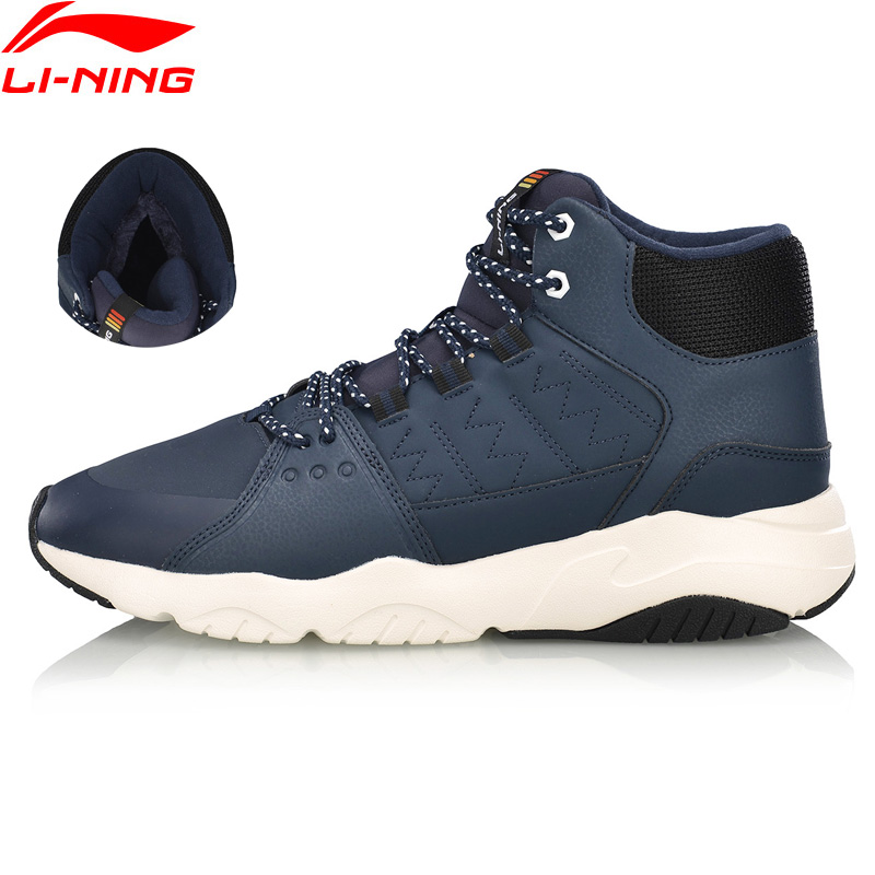 Li Ning Men LN PIONEER Lifestyle Shoes Breathable Warm Fleece Wearable LiNing Sport Shoes Classic Sneakers