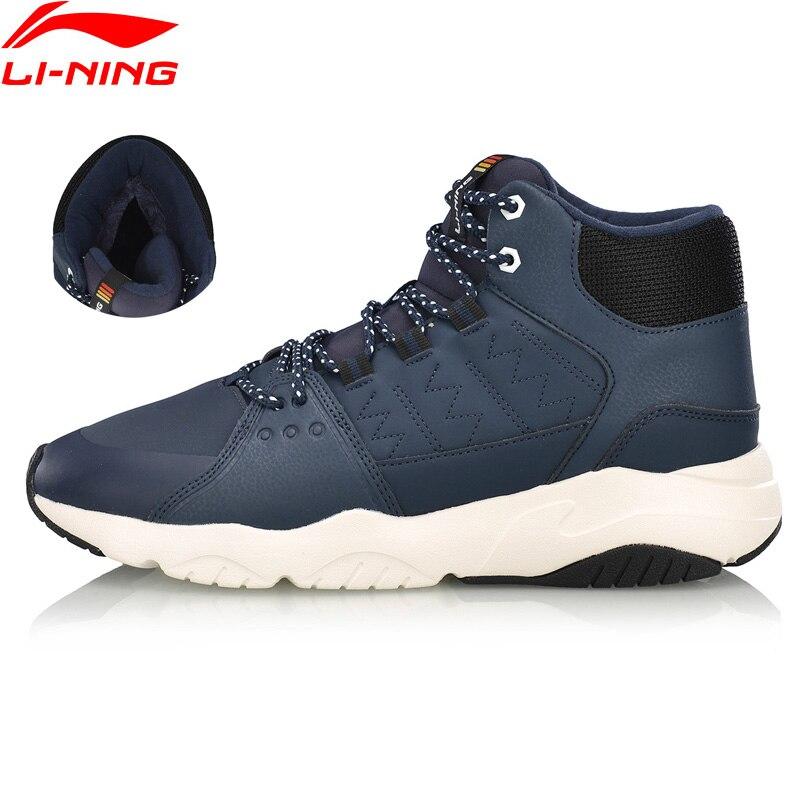 Li-ning homem ln pioneiro estilo de vida sapatos respirável lã quente forro wearable esporte sapatos clássicos tênis agcn125 yxb235