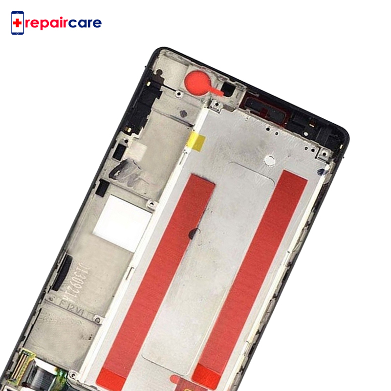 Black White For Huawei P6 LCD Display Touch Screen Digitizer Glass Panel Frame Assembly Replacement For Huawei Ascend P6 in Mobile Phone LCD Screens from Cellphones Telecommunications