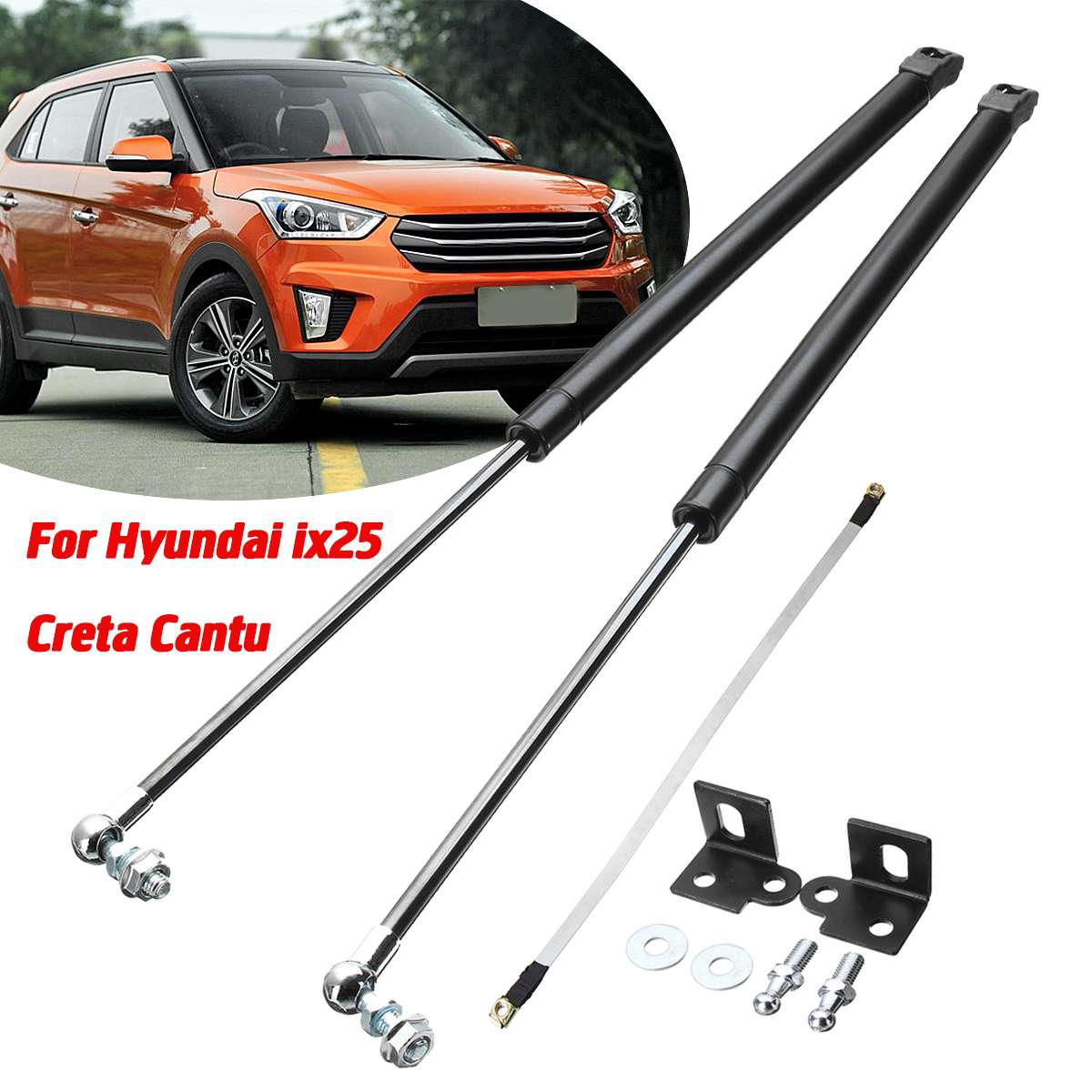 Car Front Bonnet Hood Modify Gas Struts Lift Support Shock Damper Bars For Hyundai ix25 for Creta Cantu Absorber|Strut Bars| |  - title=