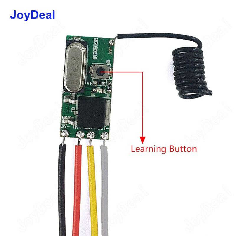 433 Mhz DC 3,6 V 6 V 12 V 24 V 1CH Mini relé de Control remoto inalámbrico de RF interruptor de alimentación lámpara LED controlador Micro transmisor receptor