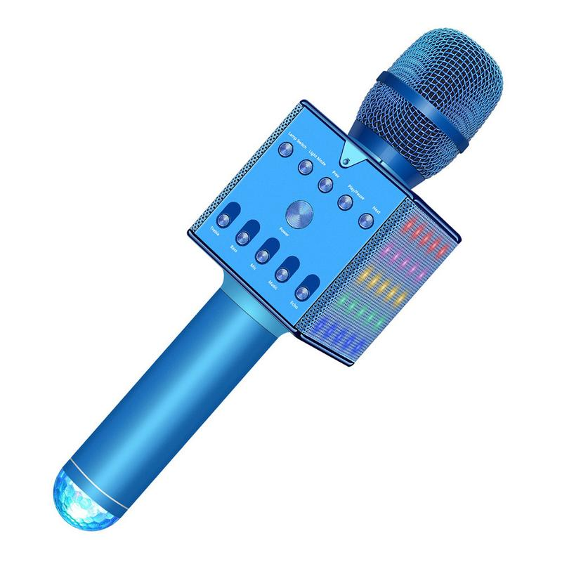 Wireless Karaoke Microphone Portable Handheld Karaoke Artifact Mobile Phone Wireless Microphone Home TV Singing