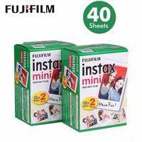 Оригинальный 40 листов Fujifilm Instax Mini 8 фильмов белый край 3 дюймов для Фотоаппарат моментальной печати 7 9 25 50 s 70 90 SP-1 SP-2 photo paper