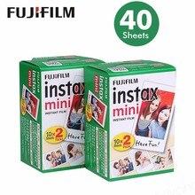 원래 40 시트 후지 인스탁스 미니 8 필름 흰색 가장자리 3 인치 인스턴트 카메라 7 9 25 50 초 70 90 sp 1 sp 2 사진 종이