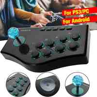 USB Rocker Game Controller Arcade Joystick Gamepad Fighting Stick For PS3/PC For Android Plug And Play Street Fighting Feeling