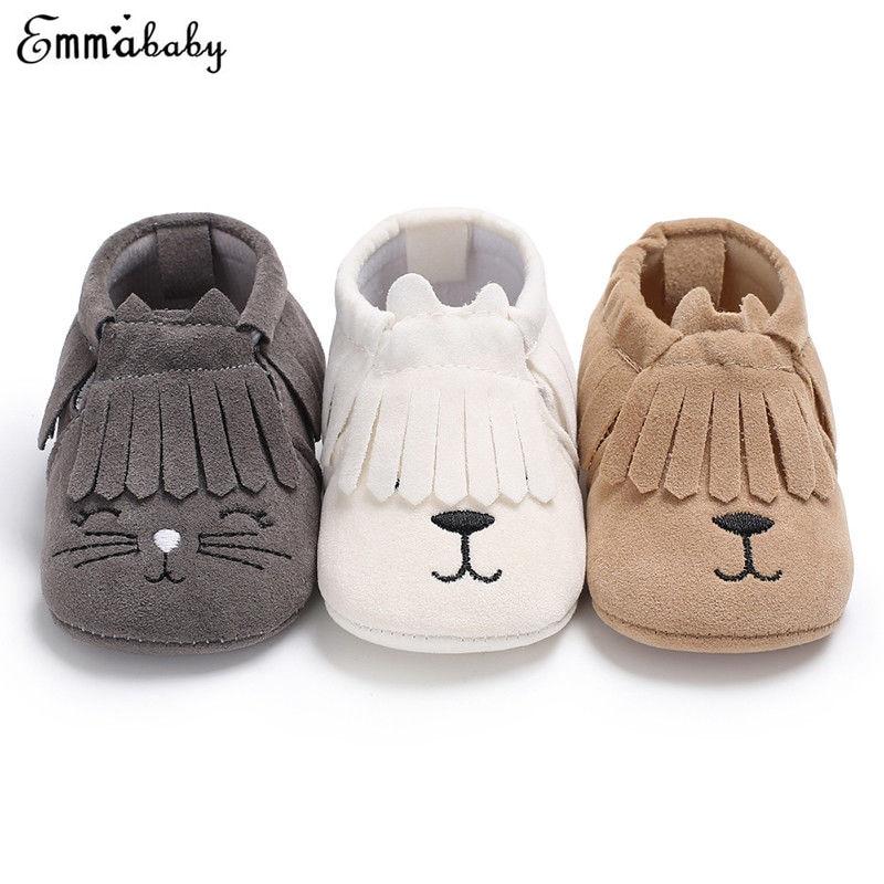Baby Casual Schuhe Quaste Weichem Wildleder Schuhe Kawaii Tier Muster Infant Kleinkind Neugeborenen Jungen Mädchen Mokassin Schuhe Ruf Zuerst Mutter & Kinder Turnschuhe