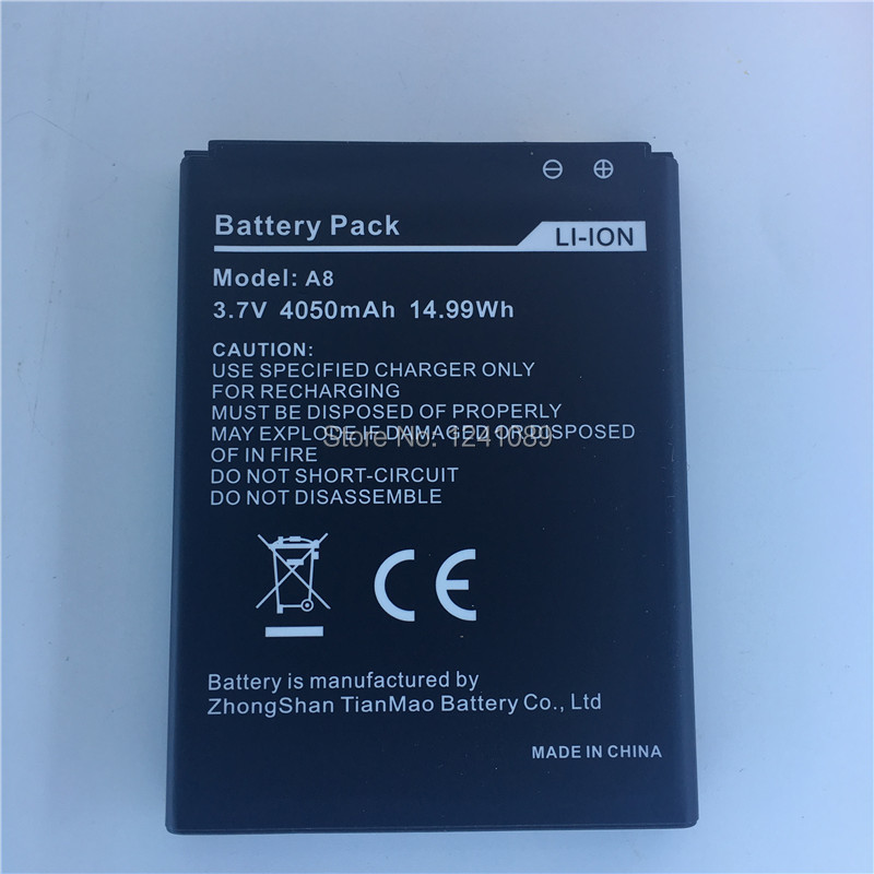 Mobile phone battery AGM A8 4050mAh High-quality Three mobile accessories Long standby time