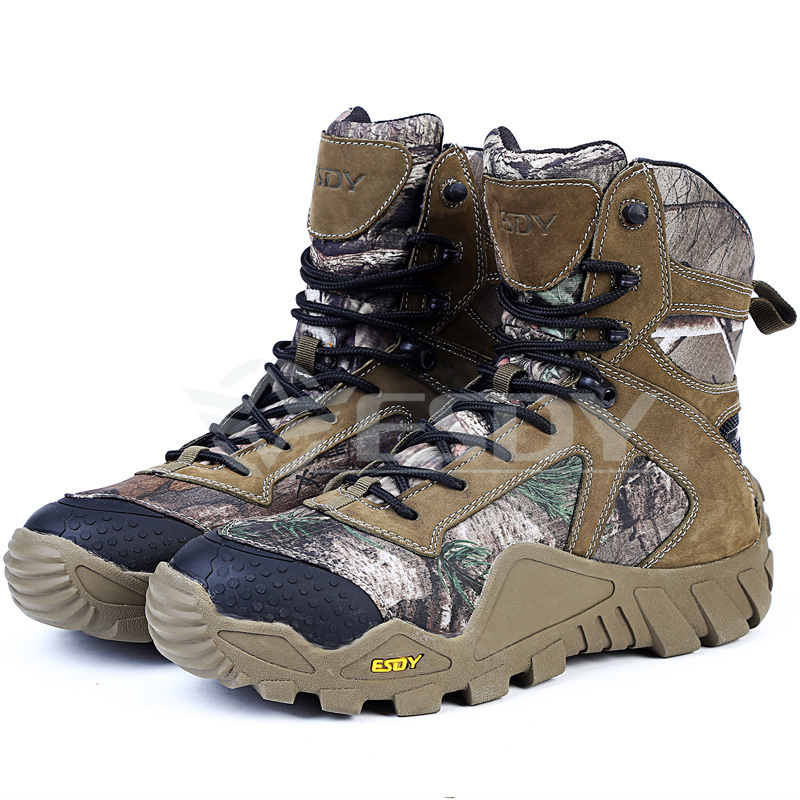 Mens Outdoor Sports Camping Camouflage Hiking High Shoes Military Training Hunting Climbing Waterproof Tactical Assault Boots