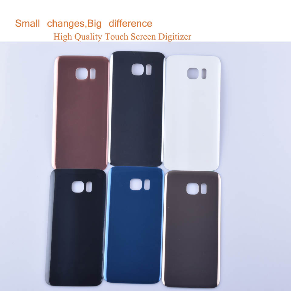 10Pcs/lot Original For Samsung Galaxy S7 Edge G935 <font><b>G9350</b></font> G935F <font><b>SM</b></font>-G935F Housing Battery Cover Back Cover Case Rear Door Chassis image