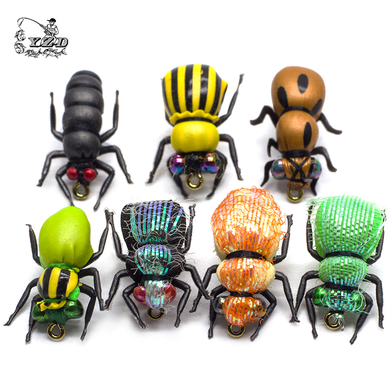 Dry Fly Fishing Flies Set 16-24st Insect Lure Gul Frukt Flyting Kit Regnbågeöring Flies Bass Fishing Assortment Flyfishing