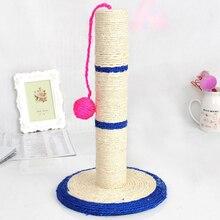 Rascador de poste de árbol para gato con bola (juguete), Protector de muebles de árbol Sisal para rascar mascotas, juguetes de juego para gatos, Color aleatorio