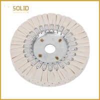 Tampon de polissage de roue de tissu de polissage de voies respiratoires de coton de 6 pouces alésage de 20mm pour une finition de miroir sur l'aluminium et l'outil de polissage inoxydable