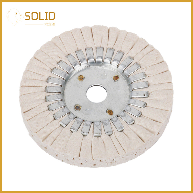 6 inch Cotton Airway Buffing Cloth Wheel Polishing Pad 20mm Bore for a Mirror Finish on Aluminum And Stainless Polishing Tool