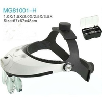Hands Free Head Headband Helmet Magnifier Glasses Loupe Head Magnifier With LED Light and 5 lenes