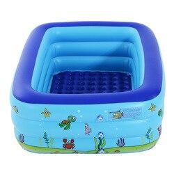 2019 inflável bebê piscina crianças uso doméstico piscina de crianças grande tamanho quadrado piscinas crianças presentes