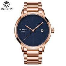 OCHSTIN pulsera de acero para Hombre, Reloj de pulsera mecánico de lujo, dorado, automático