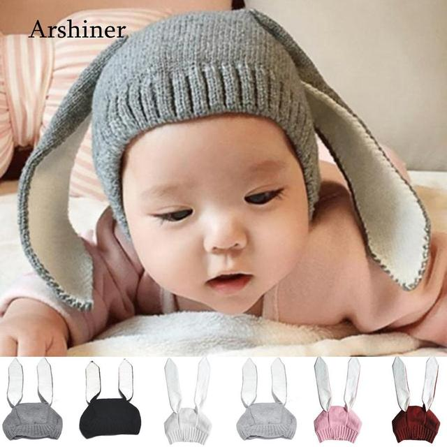 cf085062d US $2.89 23% OFF Autumn Winter Adorable Rabbit Long Ear Hat Toddler Infant  Kintted Baby Hat Warm Soft Photp Prop Girls Hats Baby Bunny Beanie-in Hats  ...