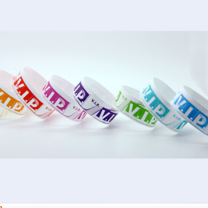100 Pieces Waterproof Disposable Tyvek Paper VIP Wrist Band Toy For Events Swimming Plain Color Cheap Tyvek Paper Wristband Toy