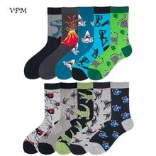 VPM New 85% Cotton Men's Crew Socks Funny Harajuku Cool Dinosaur Spider Scorpion
