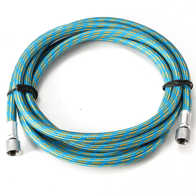 1PC 1.8M Blue Braided Airbrush Air Hose Spray Pen Woven Pipe Compressor Air Tool 1/8