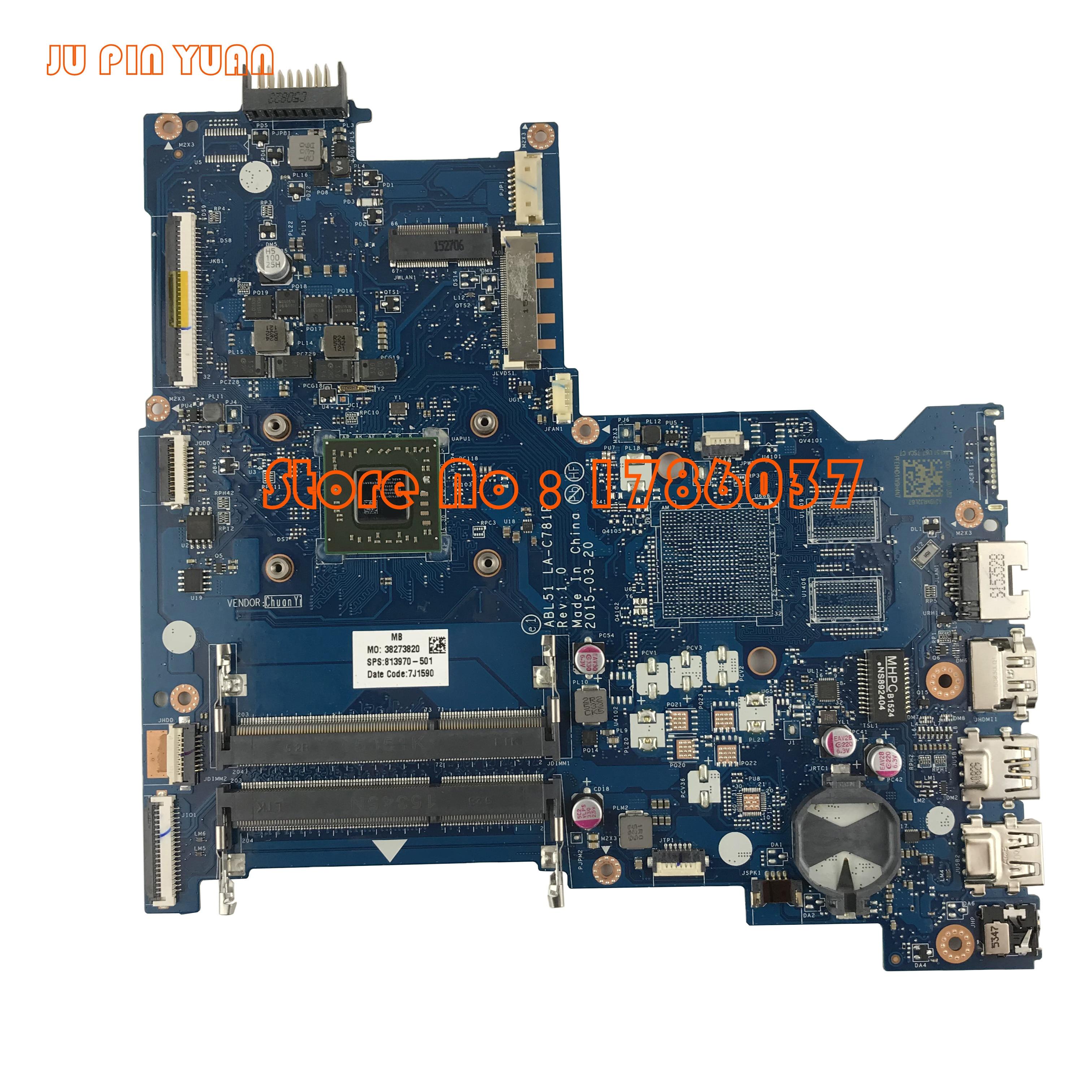 JU PIN YUAN 813970-001 813970-501 ABL51 LA-C781P për HP Notebook - Komponentët kompjuterikë