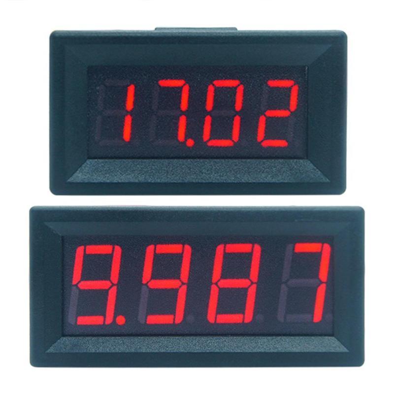Mini Digital Voltmeter Ammeter LED Display 4 Bits DC 0-100V Panel Amp Volt Voltage Meter Tester Detector for Car Home