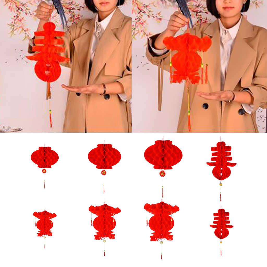 Chinesische Rote Papier Laterne Traditionellen Festival Hängen Dekor Wasserdicht Set von 10