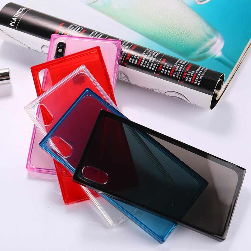 KISSCASE שקוף טלפון מקרה עבור iPhone X 7 8 6 XS MAX XR אופנה רך סיליקון מקרה עבור iPhone 5 5S SE 6 6 s 8 7 בתוספת Funda