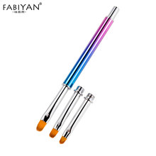 Nail Art Detachable 3/5/5in 1/set Painting Liner Brush Extension Builder Drawing Pen Acrylic Liquid Carving UV Gel Manicure Tool